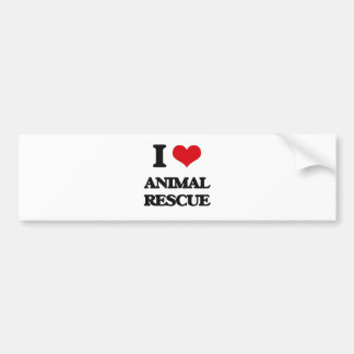 I Love Animal Rescue Bumper Sticker