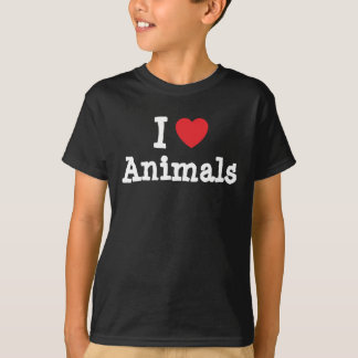I love Animals heart custom personalized T-Shirt