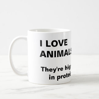 """I Love Animals"" mug"