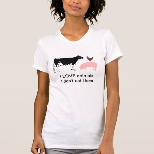 I love animals tee shirt