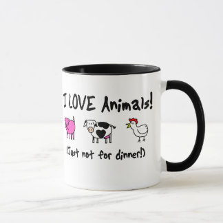 I Love Animals Vegetarian Mug