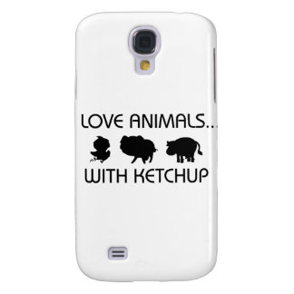 I Love Animals With Ketchup Samsung Galaxy S4 Case