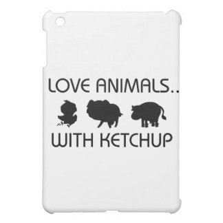 I Love Animals With Ketchup iPad Mini Cover