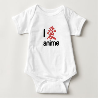 i love anime baby bodysuit