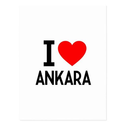 I Love Ankara Postcard