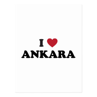 I Love Ankara Turkey Postcard