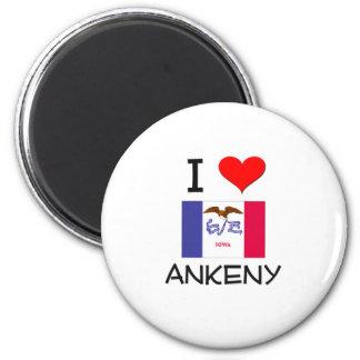 I Love ANKENY Iowa 6 Cm Round Magnet