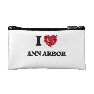 I love Ann Arbor Michigan Makeup Bag