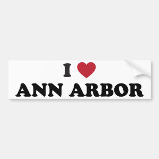 I Love Ann Arbor Michigan Bumper Sticker