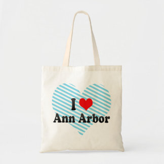I Love Ann Arbor, United States Tote Bags