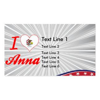 I Love Anna, Illinois Business Card Template