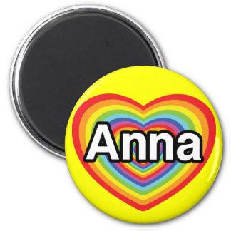I love Anna, rainbow heart Magnets