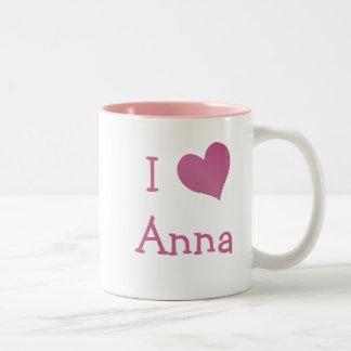 I Love Anna Two-Tone Coffee Mug