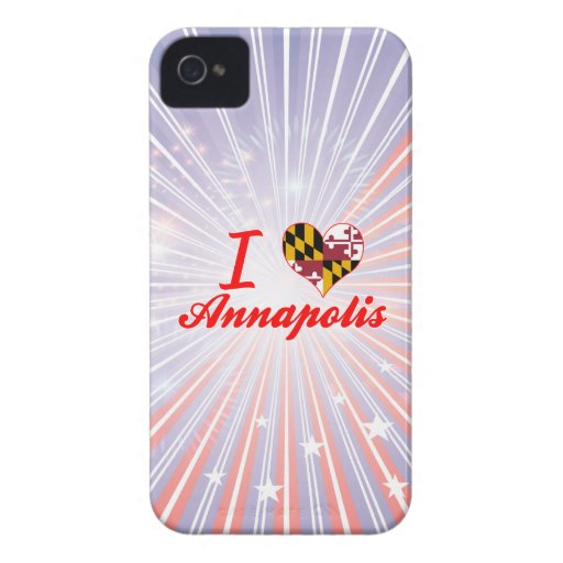 I Love Annapolis, Maryland Case-Mate iPhone 4 Cases