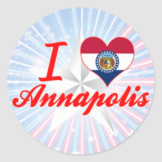 I Love Annapolis Missouri Round Sticker