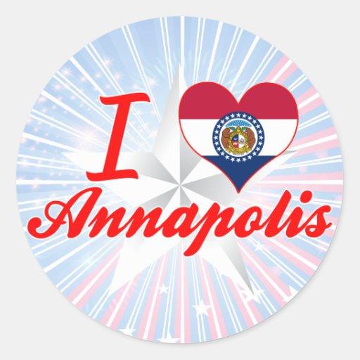 I Love Annapolis, Missouri Round Sticker