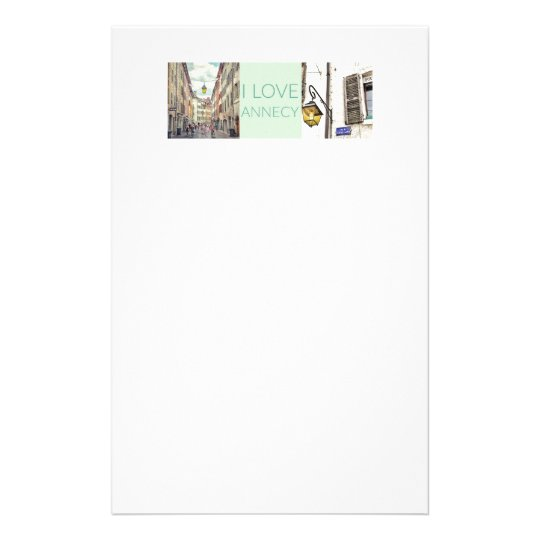 """""""I Love Annecy"""" Letterhead"""
