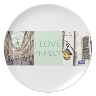 """I Love Annecy"" Melamine Plate"