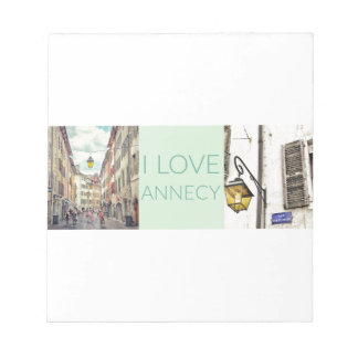 """I Love Annecy"" Notepad"