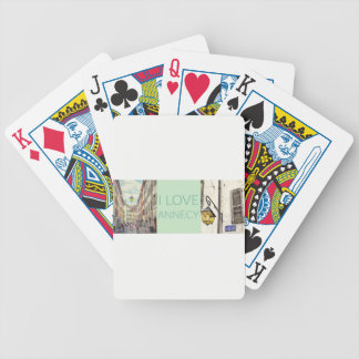 """I Love Annecy"" Photo Banner Bicycle Playing Cards"