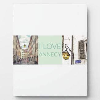 """""""I Love Annecy"""" Plaque with Easel"""