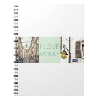 """""""I Love Annecy"""" Spiral Notebook"""