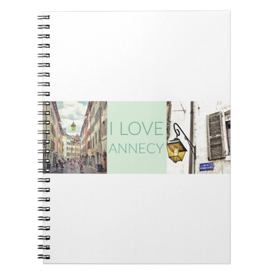 """I Love Annecy"" Spiral Notebook"