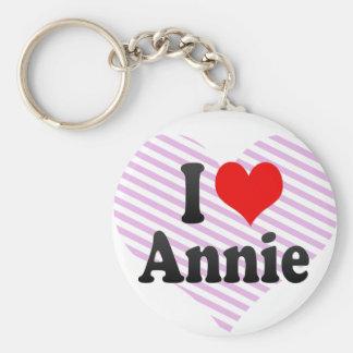 I love Annie Basic Round Button Key Ring