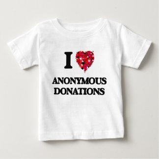 I Love Anonymous Donations Tee Shirts