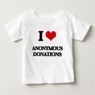 I Love Anonymous Donations Tees