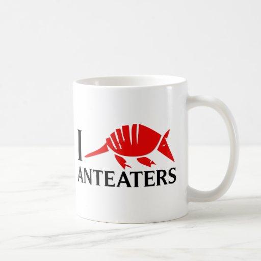 I Love Anteaters Coffee Mugs