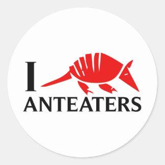 I Love Anteaters Round Sticker