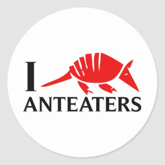 I Love Anteaters Stickers