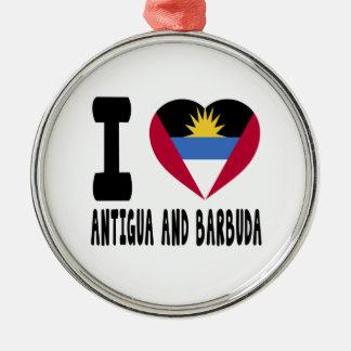 I Love Antigua and Barbuda Christmas Ornament