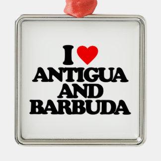 I LOVE ANTIGUA AND BARBUDA ORNAMENT