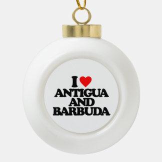 I LOVE ANTIGUA AND BARBUDA ORNAMENTS