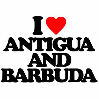 I LOVE ANTIGUA AND BARBUDA PHOTO SCULPTURE MAGNET
