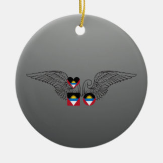 I Love Antigua and Barbuda -wings Christmas Ornaments