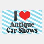 I love Antique Car Shows Rectangle Sticker