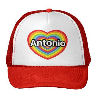 I love Antonio rainbow heart Hat