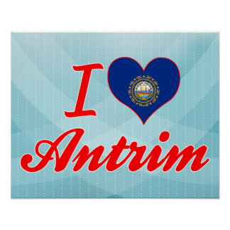 I Love Antrim, New Hampshire Poster
