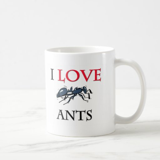 I Love Ants Classic White Coffee Mug