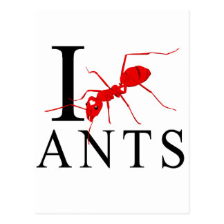 I Love Ants Post Cards