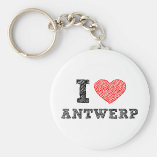 I Love Antwerp Key Ring