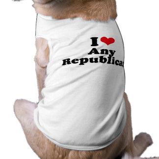 I LOVE ANY REPUBLICAN DOG TEE