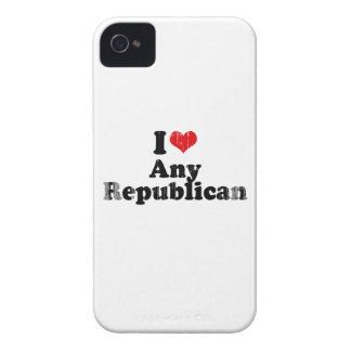 I LOVE ANY REPUBLICAN Faded.png iPhone 4 Cover