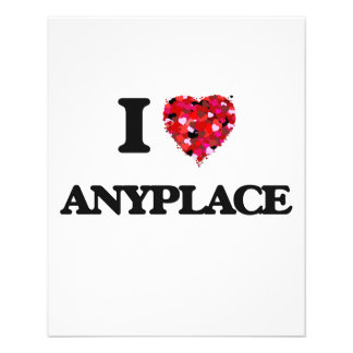 I Love Anyplace 11.5 Cm X 14 Cm Flyer
