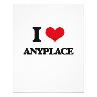 I Love Anyplace Custom Flyer