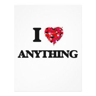 I Love Anything 21.5 Cm X 28 Cm Flyer