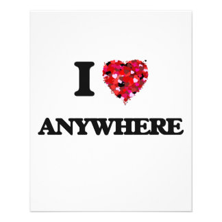 I Love Anywhere 11.5 Cm X 14 Cm Flyer